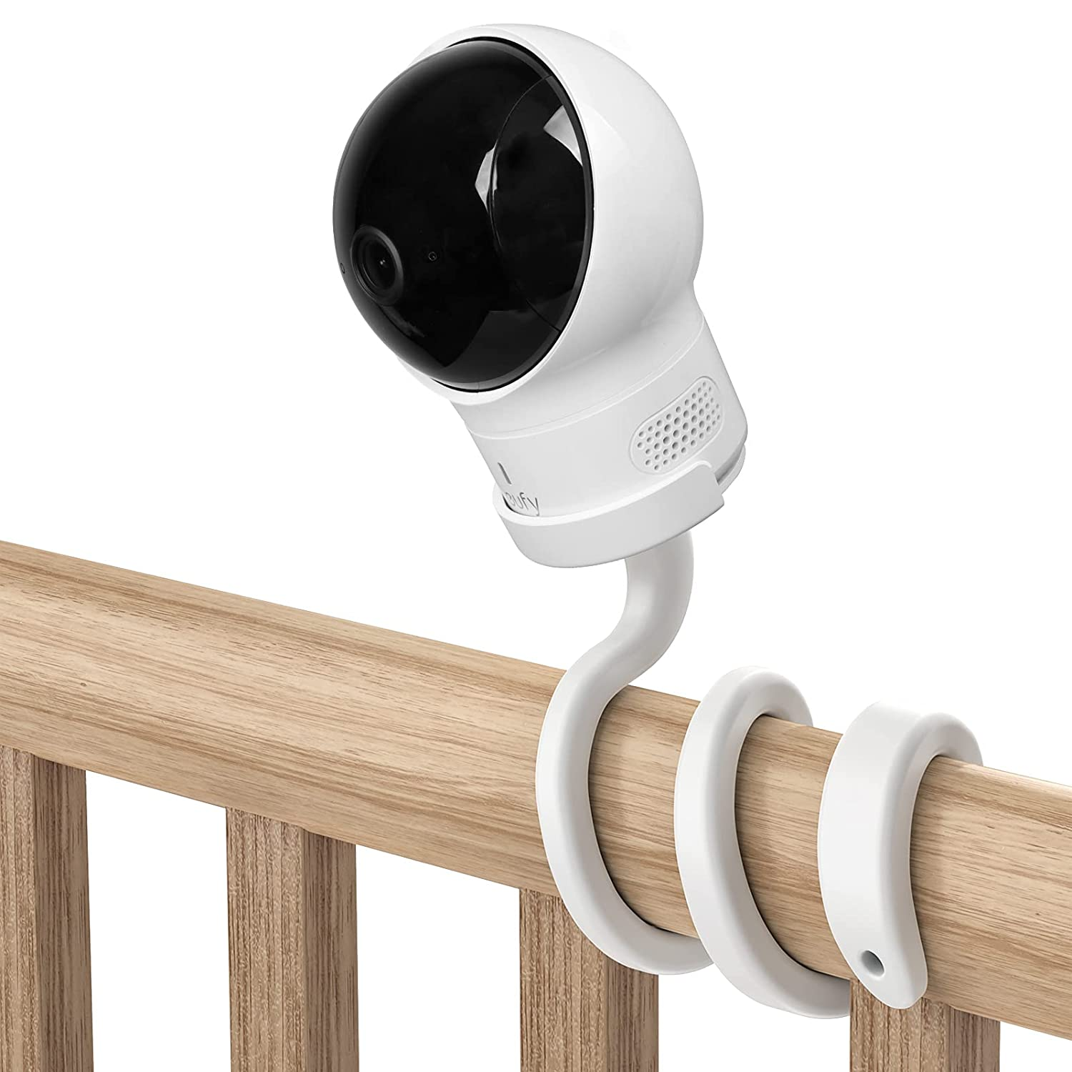 HOLACA Baby Monitor Flexible Mount Crib Mount for Eufy Spaceview, Spaceview Pro and Spaceview S Baby Monitor - Twist Versatile Mounting Kit for eufy Baby Monitor