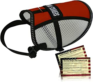 Flow-Tec Mesh Service Dog Vest with 50 FREE Service Dog ADA Info Cards -