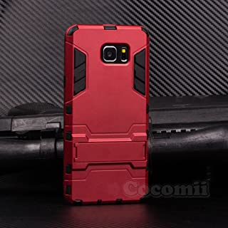 Cocomii Iron Man Armor Galaxy Note 5 Case New [Heavy Duty] Premium Tactical Grip Kickstand Shockproof Bumper [Military Defender] Full Body Dual Layer Rugged Cover for Samsung Galaxy Note 5 (I.Red)