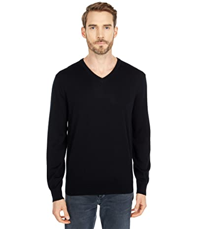 J.Crew Xinao Merino V-Neck (Black) Men