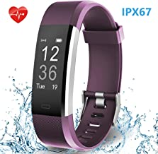 Smart Fitness Band, HolyHigh YG3 Plus Fitness Tracker Watch with Heart Rate Monitor Waterproof Sport Activity Tracker Band Step Counter Sleep Monitor Call SMS Notifications for Men Women Boys Girls