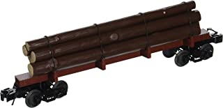 Williams By Bachmann Painted Unlettered O Scale Skeleton Log Car, Oxide Red