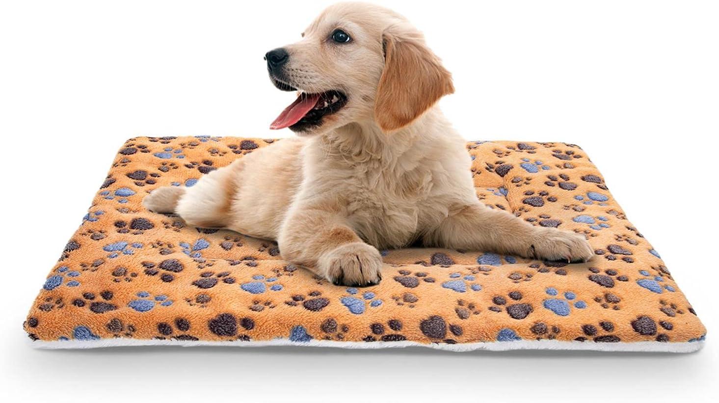 Nobleza Cama para Mascotas (Perro/Gato), súper Suave con Lindo Estampado | colchón cajón Reversible de Lana | colchón para Mascotas Lavable a máquina L55*W42CM