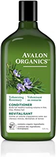 Avalon Organics Conditioner, Rosemary, 11 Ounce (Pack of 3)