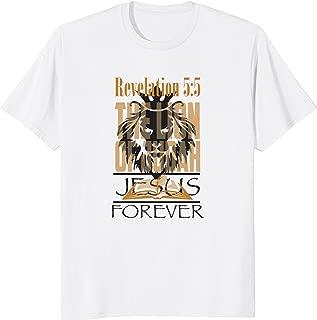 Jesus Forever Lion Faith Bible Verse T Shirt