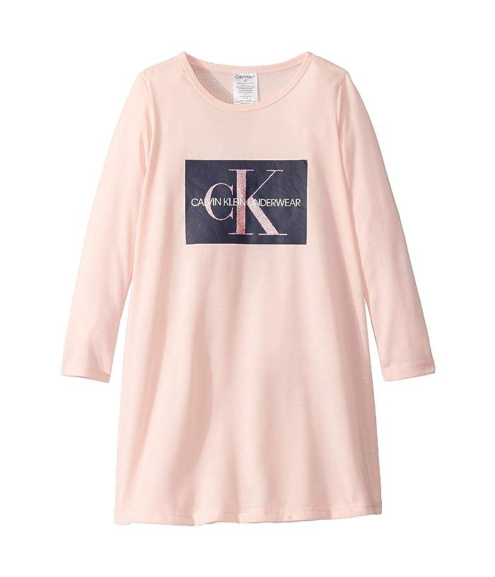Long Sleeve Dress (Little Kids/Big Kids) (Crystal Pink) Girl's Pajama