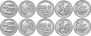 2017 P, D BU National Parks Quarters - 10 coin Set Uncirculated
