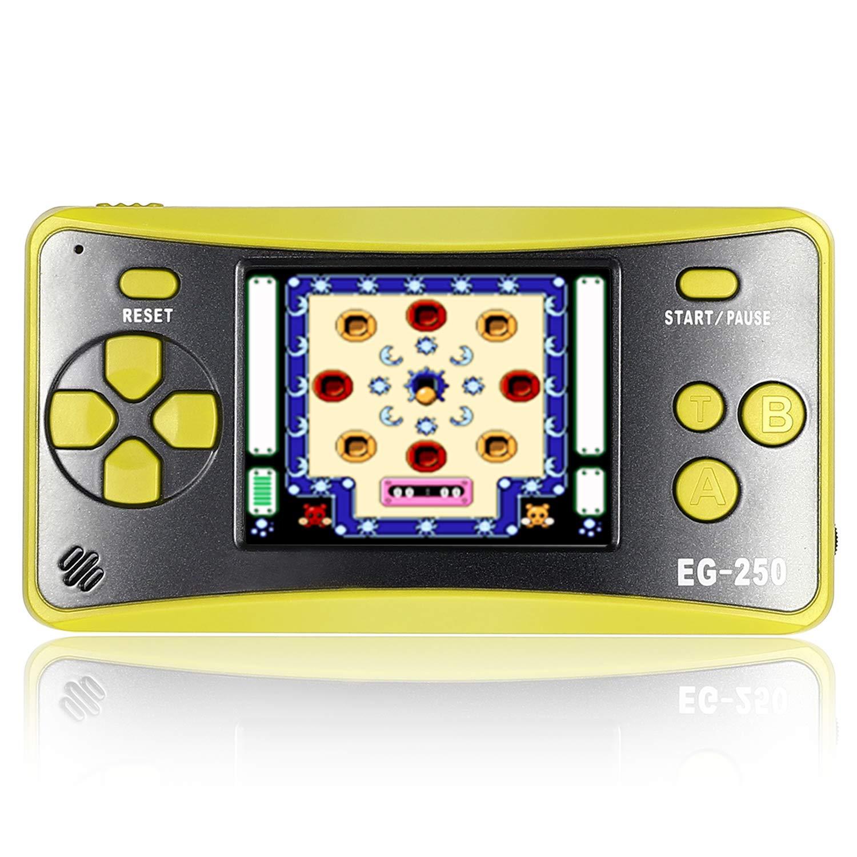 E-WOR Consola de Juegos Retro, 2.5 Pulgadas, 8 bits, 200 Juegos clásicos, Consola de Juego de Mano integrada para Adultos, Reproductor de Videojuegos portátil Arcade, Soporte para Reproductor de TV: Amazon.es: Electrónica