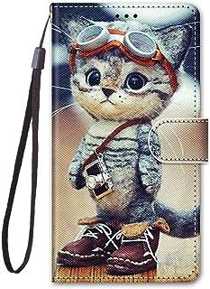 zl one Kompatibel med/ersättning för telefonfodral Nokia C2 PU-läderskydd söta målade kortplatser plånbok flip fodral (b01)