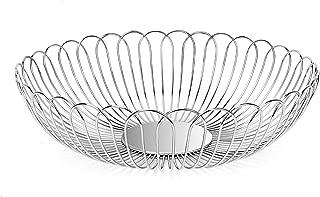 Fruit Basket Bowl Stainless Steel Fruit Storage Basket Wire Bowl for kitchen with Bread Vegetables LANEJOY