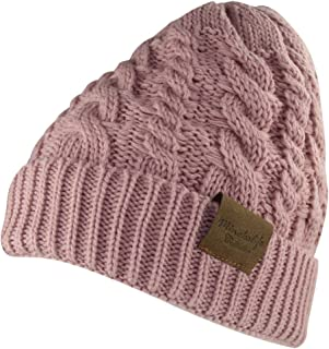MINAKOLIFE Women's Winter Beanie Warm Fleece Lining - Thick Slouchy Cable Knit Hat