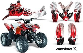 AMRRACING Polaris Predator 90 All Years Full Custom ATV Graphics Decal Kit - Carbon X Red