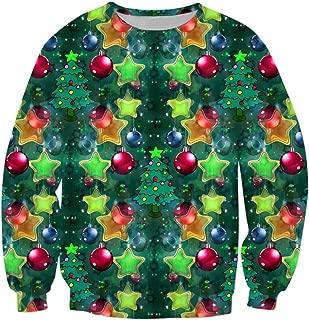 iZHH Men Top Pullover Sweatshirt Christmas Blouse Tunic Tee Casual Loose Outwear