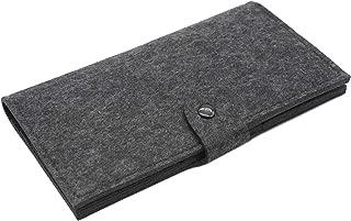 RETON Simple Woolen Felt Clutch Bag Long Wallet Passport Holder Large Capacity for Men and Women