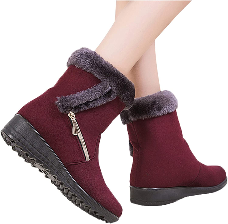Winsummer ご予約品 Snow 格安店 Boots Womens Winter Ankle Fur Lined Bo Warm