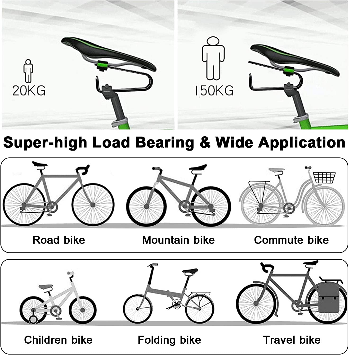 Fits for Mountain and Road Bike DeepRoar Bike Shock Absorber Bicycle Saddle Alloy Spring Steel Suspension Device