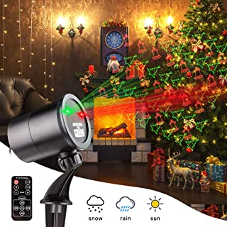 Christmas Laser Lights Outdoor Projector, Outdoor Christmas Lights with Wireless Remote, Waterproof Laser Projector Decorating for Christmas Party Holiday Stage Landscape Patio Garden