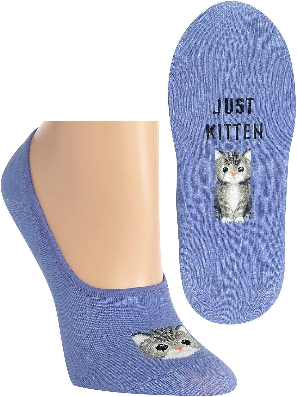 Hot Sox Womens Just Kitten Liner Socks