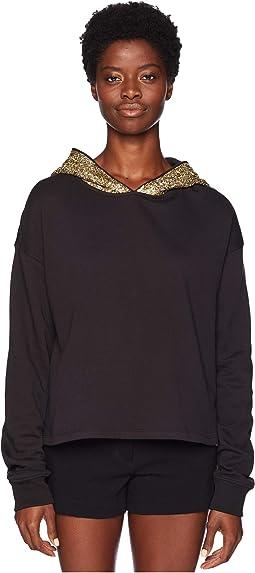 Sweater with Beaded Hood