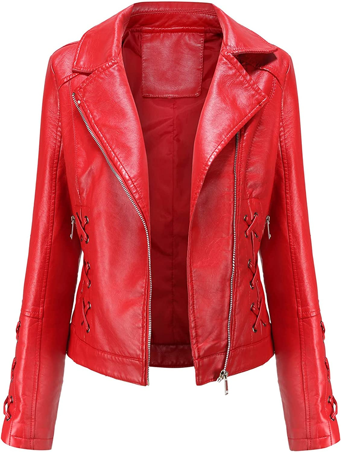 Euone_Clothes Overseas parallel import regular item Jackets for Women Fashion Casual Lea Ranking TOP19 Zipper