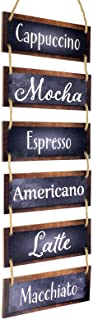 Excello Global Products Large Hanging Wall Sign: Rustic Wooden Decor (Coffee) Hanging..