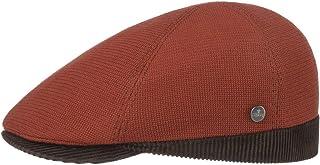 Lierys Coppola Attila Cotton Uomo - Made in Italy cap Cappello Piatto con Visiera, Fodera, Fodera Autunno/Inverno