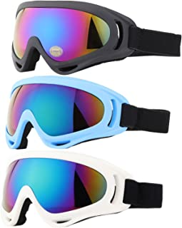 Kids Ski Goggles, Snowboard Goggles - AKASO Snow Goggles for Youth, Kids & Teenagers, Anti-Fog, 100% UV Protection, Double-Layer Spherical Lenses, Helmet Compatible ZIONOR Lagopus Ski Snowboard Goggles UV Protection Anti Fog Snow Goggles for Men Women Youth Ski Goggles, Motorcycle Goggles, Snowboard Goggles for Men Women & Youth, Kids Ski Goggles, Yidomto Pack of 3 Snowboard Goggles for Kids,Boys,Girls,Youth, Mens Womens