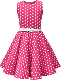 Kids 'Audrey' Vintage Polka Dot 50's Girls Dress