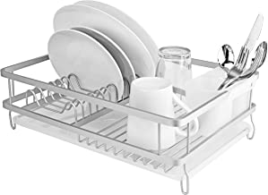 Large Countertop, Sink Dish Drainer Drying Rack with Drain Board and BPA Free Utensil Holder – Air dry Dishes, Bowls, Wine Glasses, Silverware, Plates, Utensils - 12
