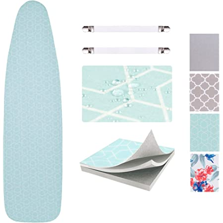 Amazon Com Sunkloof Scorch Resistance Ironing Board Cover And Pad Resists Scorching And Staining Ironing Board Cover With Elasticized Edges And Pad 15 X54 Home Kitchen