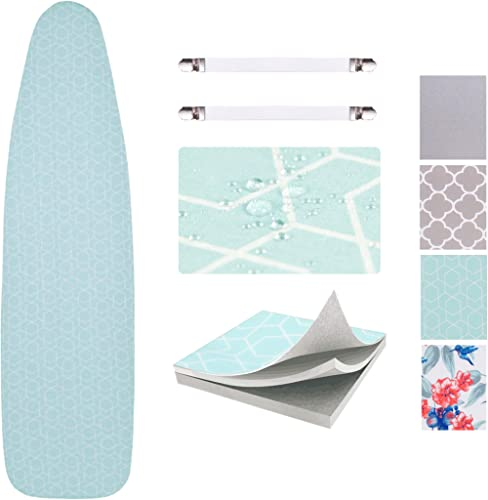 Sunkloof Scorch Resistance Ironing Board Cover and Pad Resists Scorching and Staining Ironing Board Cover with Elasti...