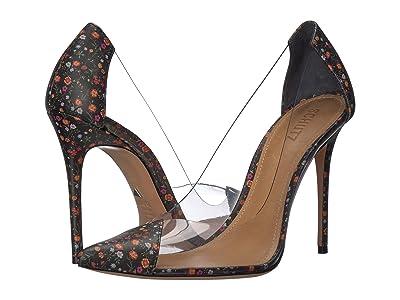 Schutz Cendi (Black Transparente/Napa Mini Floral) High Heels