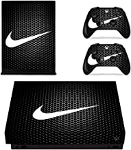 Adventure Games - XBOX ONE X - Nike, Black Hexagon - Vinyl Console Skin Decal Sticker + 2 Controller Skins Set