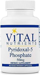 Vital Nutrients - Pyridoxal-5 Phosphate - Activated Vitamin B6-90 Vegetarian Capsules per Bottle - 50 mg