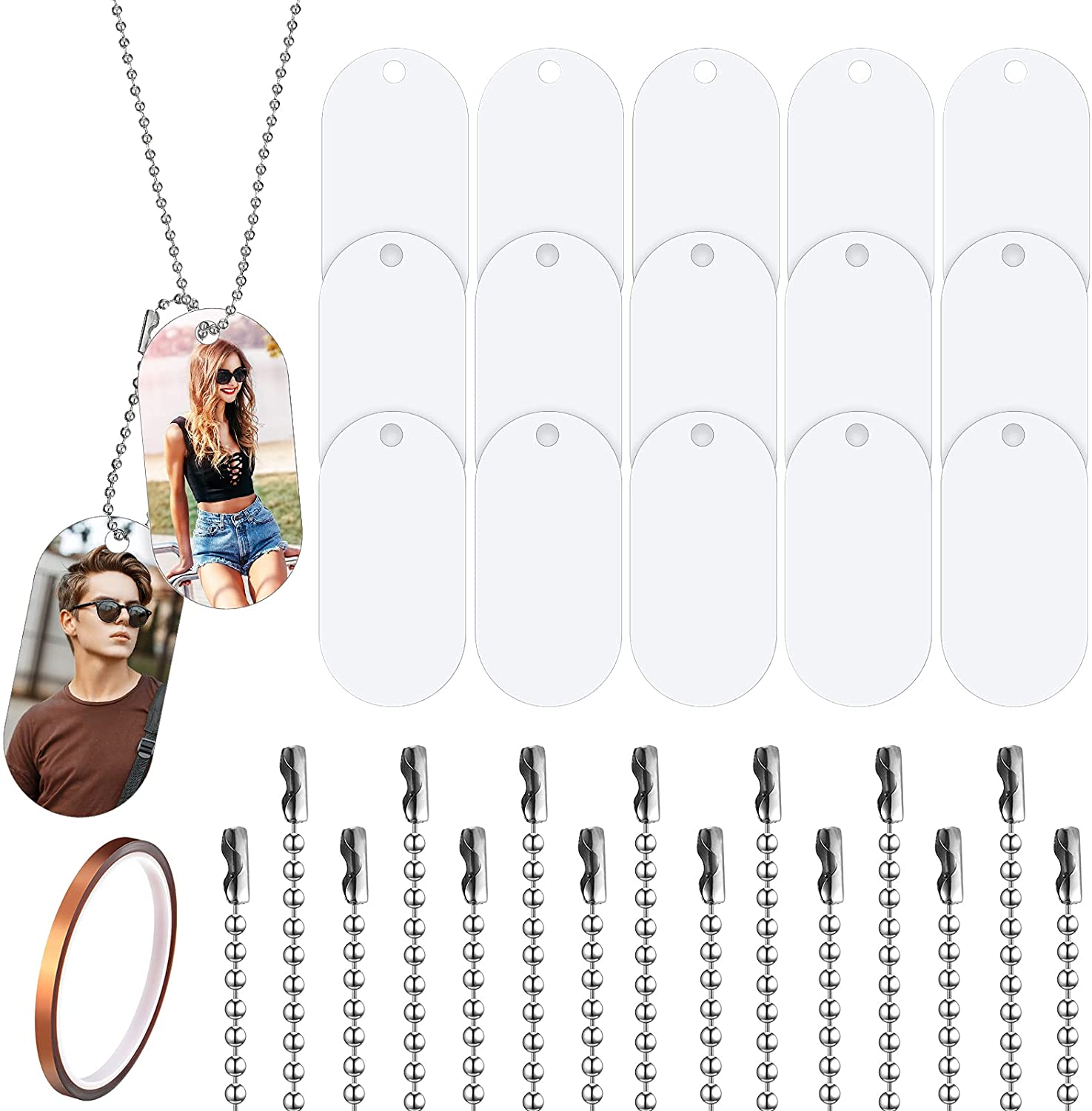 Sublimation Blank Aluminum Dog Ta White Tag Stamping Clearance SALE Limited Al sold out. time