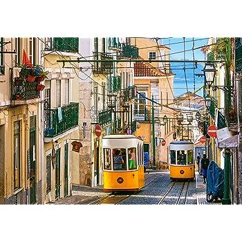 Portogallo 1992068-Castorland C-104260-2 Hobby Panoramic Lisbona Trams Puzzle