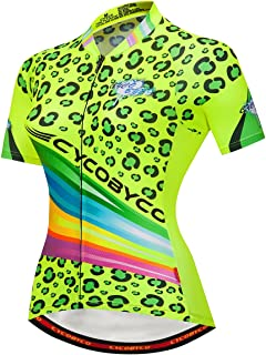 CYCOBYCO Women's Cycling Jersey Short Sleeve Reflective,Light,Breathable and Quick Drying