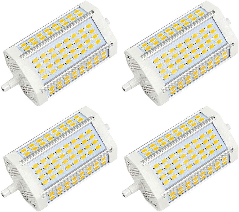 DASKOO 4-er Pack R7S LED Flutlicht 30W Neutralwei 4000K AC 85-265V 64x 5730 SMD