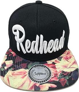♥ Snapback Cap Stickerei Blondie/Brownie/Blackie/Readhead für Damen in schwarz oder mit Flower-Schirm/floral Print und weißem 3D-Stick,verstellbar an der Rückseite