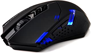 StyleZ Wireless Gaming Mouse, 2.4G Computer Mouse Wireless Mice with Quiet Button Design, 2400DPI, 7-Button for Laptop Notebook PC Laptop Computer,Black