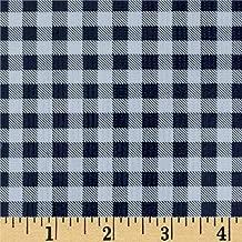 Oil Cloth International Oilcloth International 0328019 Gingham Fabric By The Yard, Navy