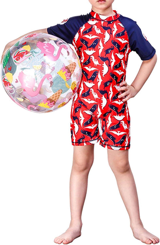 Yartina Kids Boys Half-Collar Dinosaur Print Beachwea Cash special price Rash Shirt Online limited product