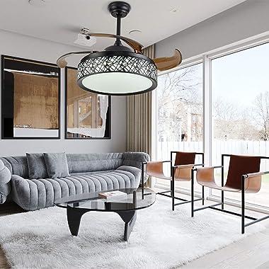 Ventilateur de plafond avec éclairage et télécommande pour ventilateur de plafond industriel Luminaire de 42 pouces pour rest