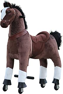 Medallion - My Pony Ride On Real Walking Horse for Children 5 to 12 Years Old or Up to 110 Pounds (Color Medium Chocolate Horse) for Boys and Girls