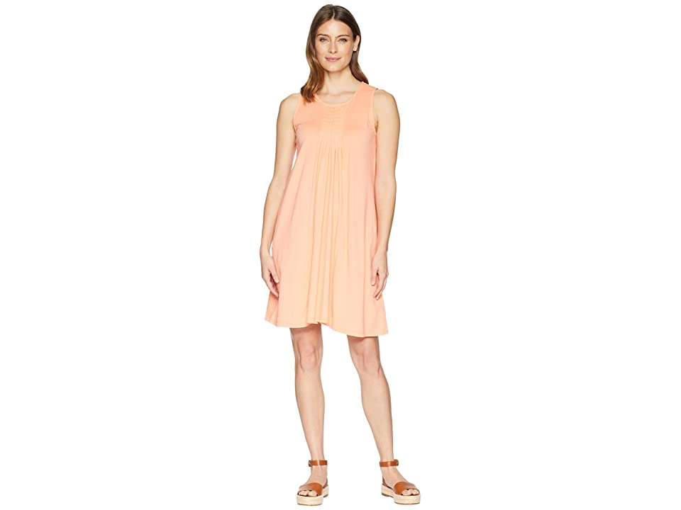 Mod-o-doc Supreme Jersey Pleated Tank Dress (Orangesicle) Women