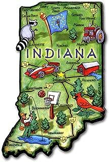 Indiana the Hoosier State Artwood Jumbo Fridge Magnet