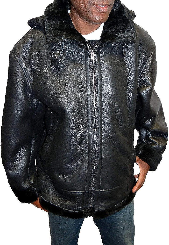 Isabella Men's B3 Shearling Leather Jacket M