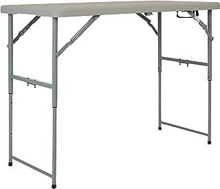 Office Star Resin Multipurpose Rectangle Table, 4-Feet Long, Height Adjustable, Center Folding Table (Renewed)