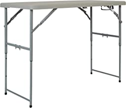 Office Star Resin Multipurpose Rectangle Table, 4-Feet Long, Height Adjustable, Center Folding Table (Renewed)