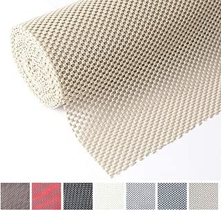 Tonw's Shelf Liner, Grip Liner Non-Adhesive Non Slip Drawer Durable Clean Pad, Roll 12 Inches x 20 Feet for Kitchen, Shelves, Cabinets, Storage, Kitchen, Desks, Kitchenware, Tableware, Beige